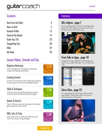 guitar coach magazine screenshot 2