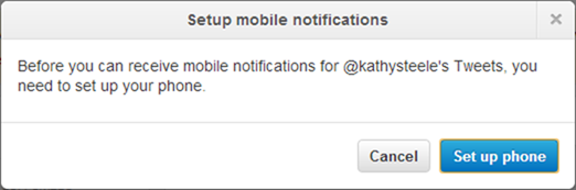 set up twitter mobile notifications