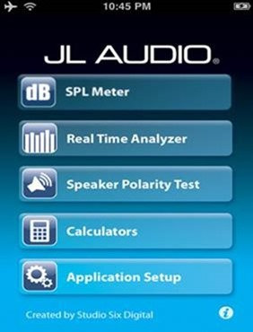 JL Audio Tools  - audio car apps