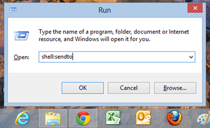 run to command -  windows 8