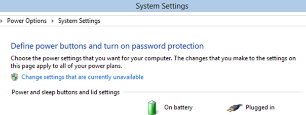 bypass windows 8 login screen using power settings