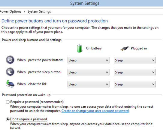 Windows 8 password protection