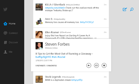 tweeting with the Windows 8 app