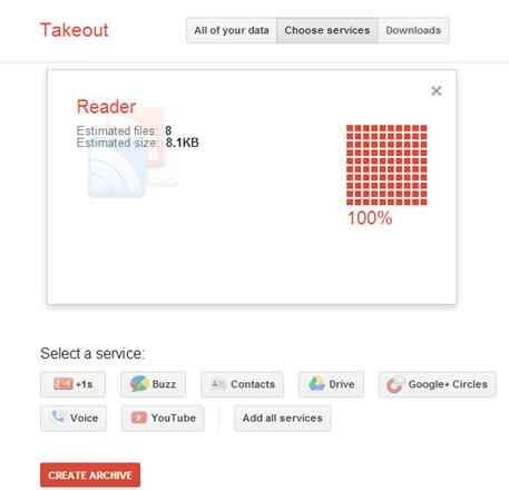 Google Reader Takeout