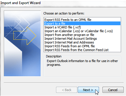 export Export Contacts from Outlook to CSV