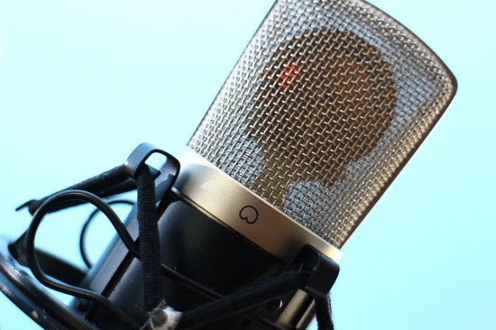 recording a podcast