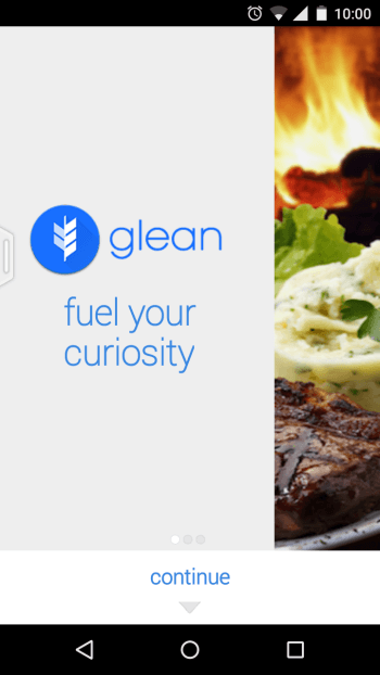 Glean App Intro screen