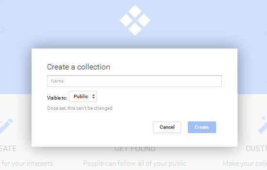 create a google plus collection