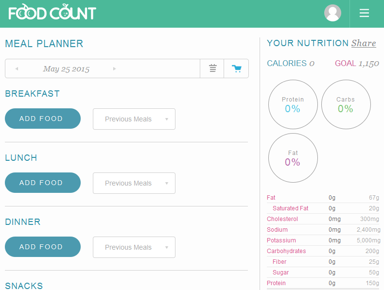 foodcount home page
