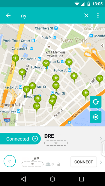 Find free wifi hotspots in new york