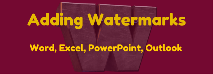 how to make a watermark in powerpoint