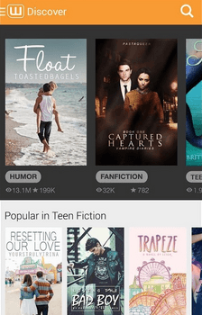 wattpad - Best Android Apps for Book Lovers