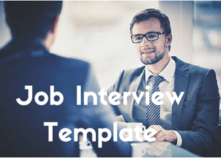 job interview template for outlook