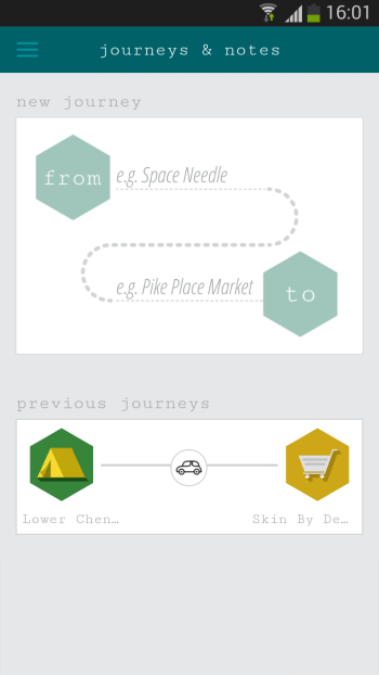 Journey & Notes Home page