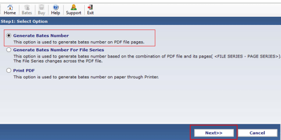 add page numbers to pdf  with PDF Bates Numberer
