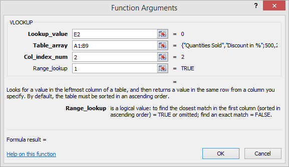 function arguments in NOT EXACT MATCH scenario