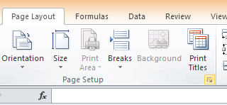page setup button