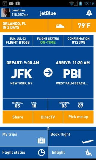 airline apps - JetBlue