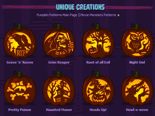 zombie pumpkins - free online templates for pumpkin carving