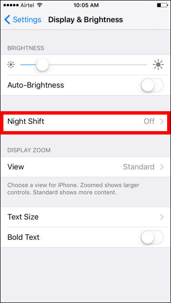 Night Shift Mode in iOS 9.3