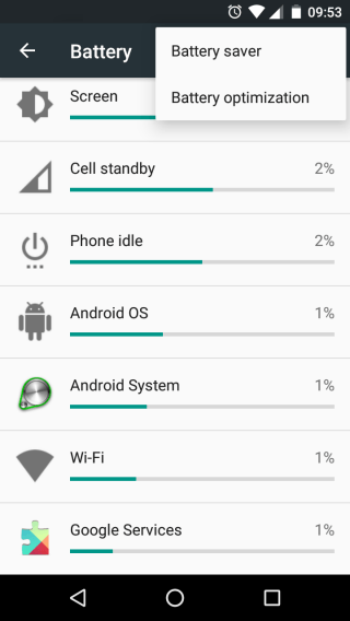 Battery saver option in android marshmallow