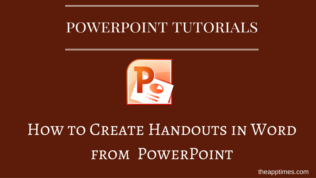 how to create pdf handouts from powerpoint 2016