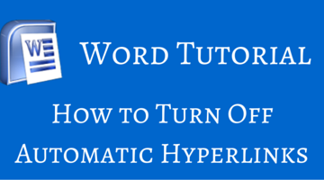 How to Turn Off Automatic Hyperlinks in Word fi