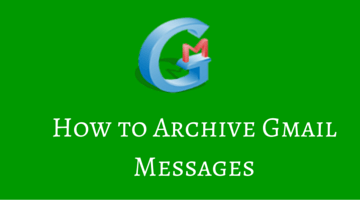 How to archive gmail messages fi