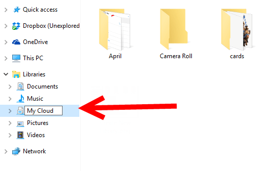 Naming the Cloud Folder