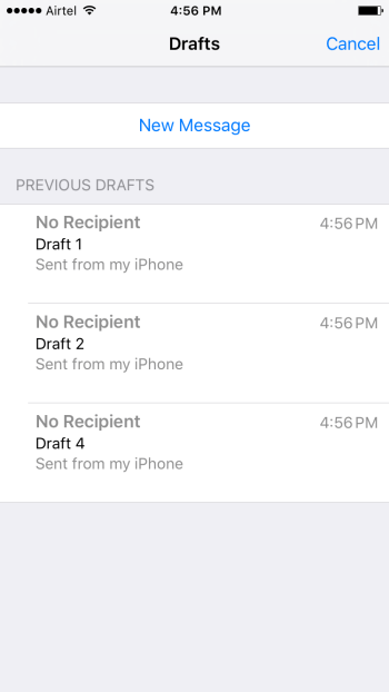Retrieve a Draft You Deleted in Mail App