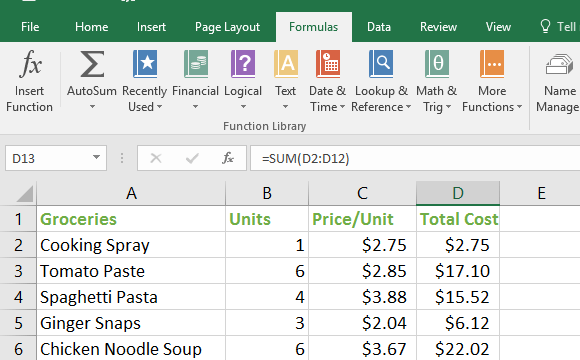The Excel Function Library