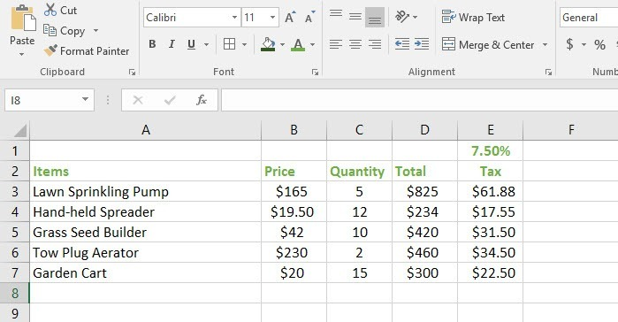extending formula using absolute references