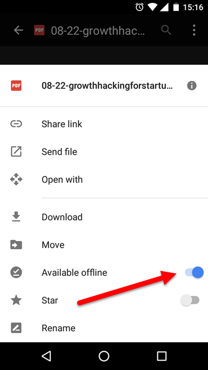 Make available offline
