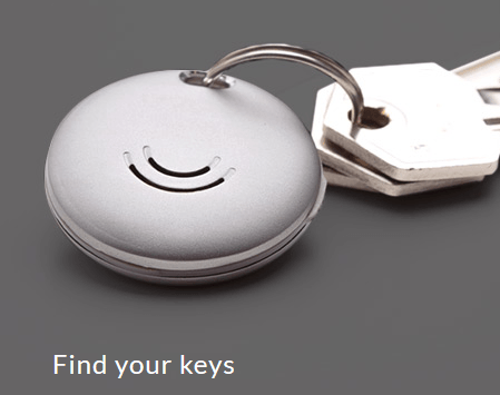 Orbit Bluetooth tracker tag on keys