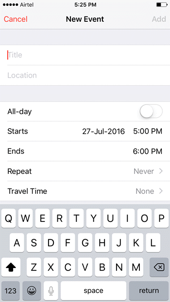 How to Create Events in the Calendar App on Your iPhone