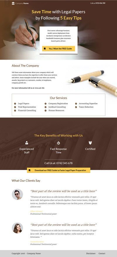 Thrive Themes Landing Page Template for Attorneys