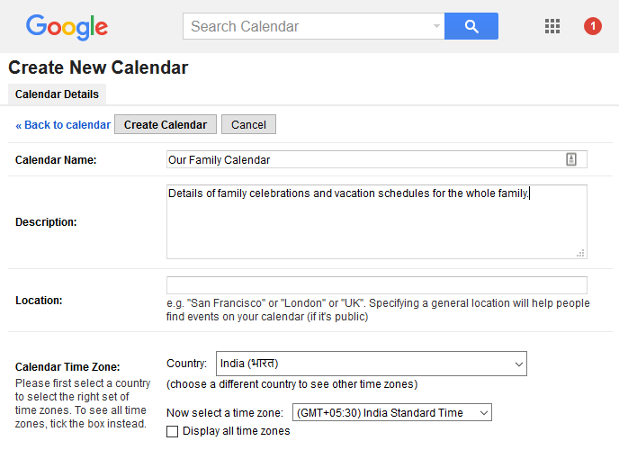 share a google calendar with other people how to