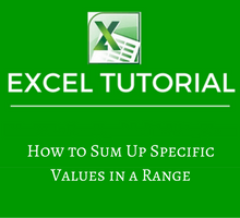 How to Sum Up Specific Values in a Range in Excel - tfi