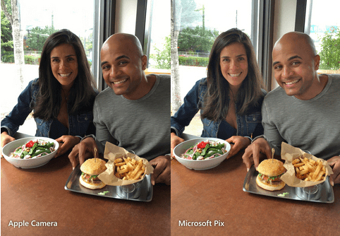 Microsoft Pix and Apple Camera App Comparison