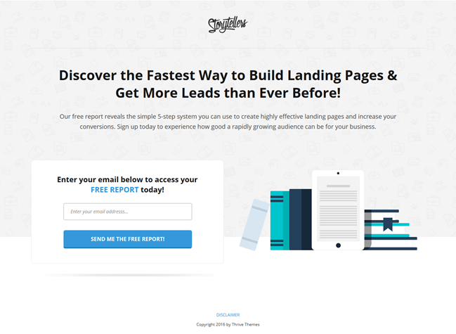 Thrive Landing Pages - 2 second Rule