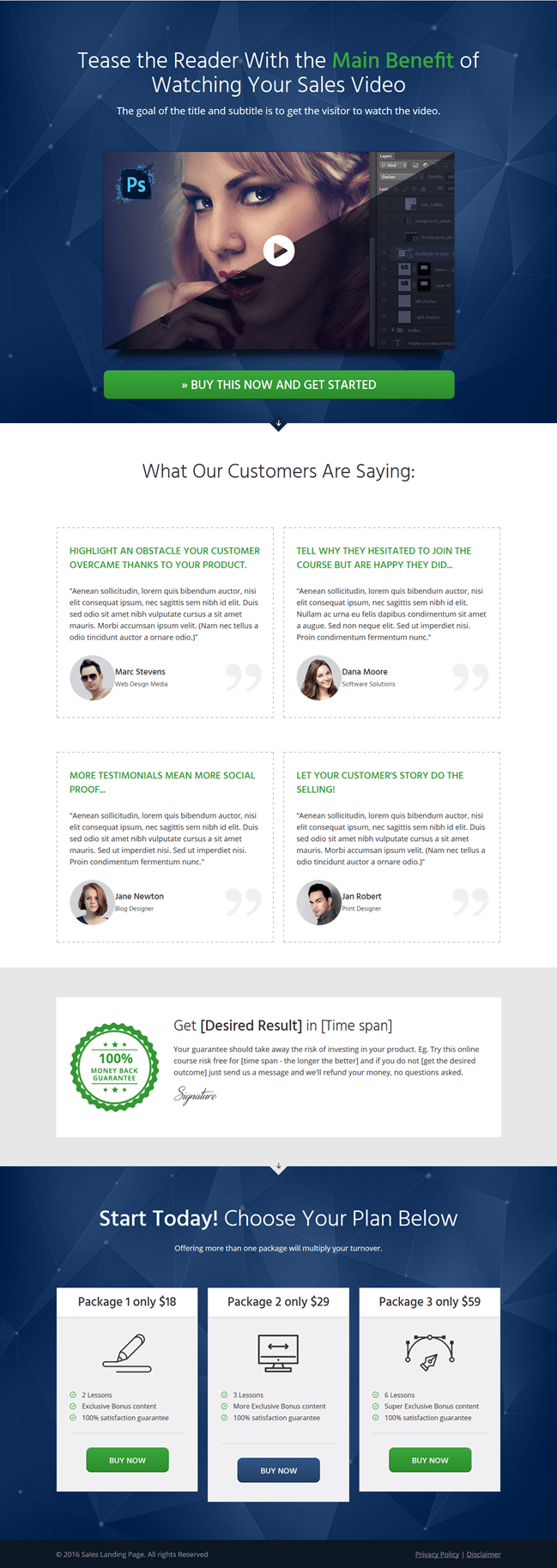 Thrive Landing Pages Minimal - turn website visitors to converting customers