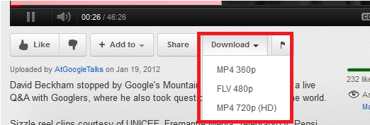 download-button-in-youtube - How to Download YouTube Videos