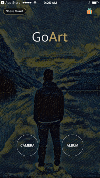 goart-home-screen