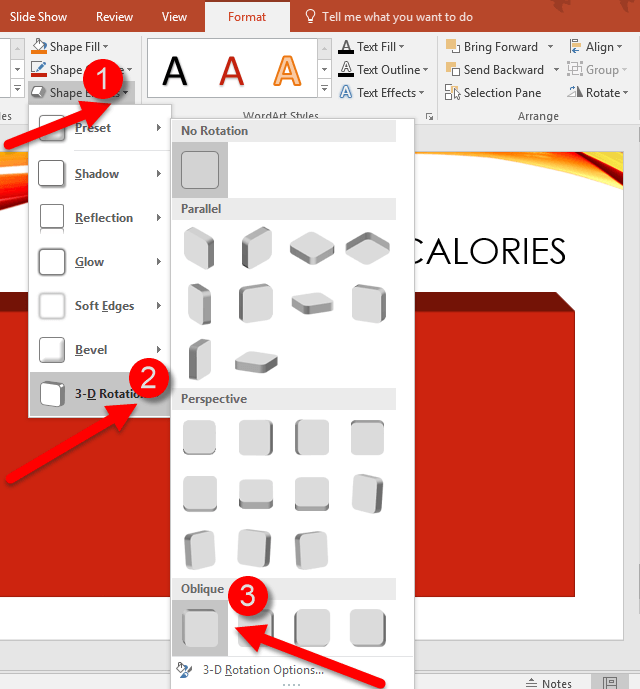 How to Create 3D Effect for a PowerPoint Table
