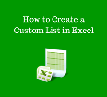 Learn Excel _ How to Create a Custom List in Excel tfi