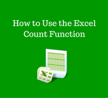Learn Excel _ How to Use the Excel Count Function tfi