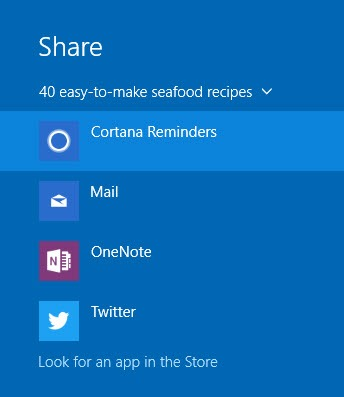 link based cortana reminders