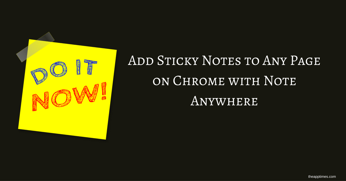 Note Add On Chrome