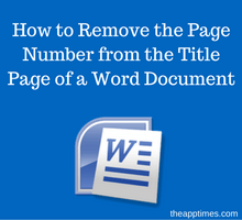 how-to-remove-the-page-number-from-the-title-page-of-a-word-document-tfi