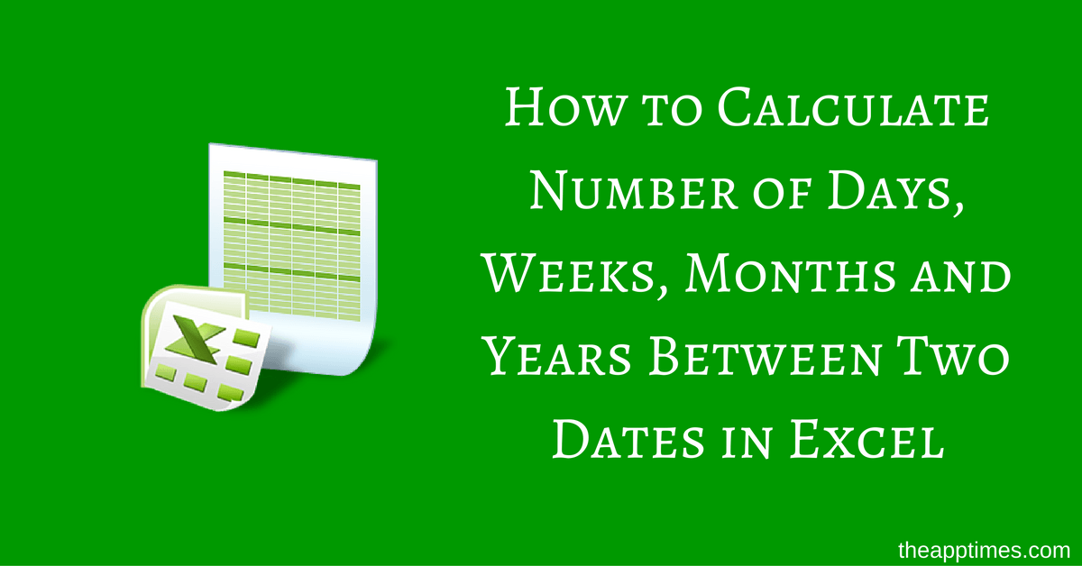 Calculate number of days between dates